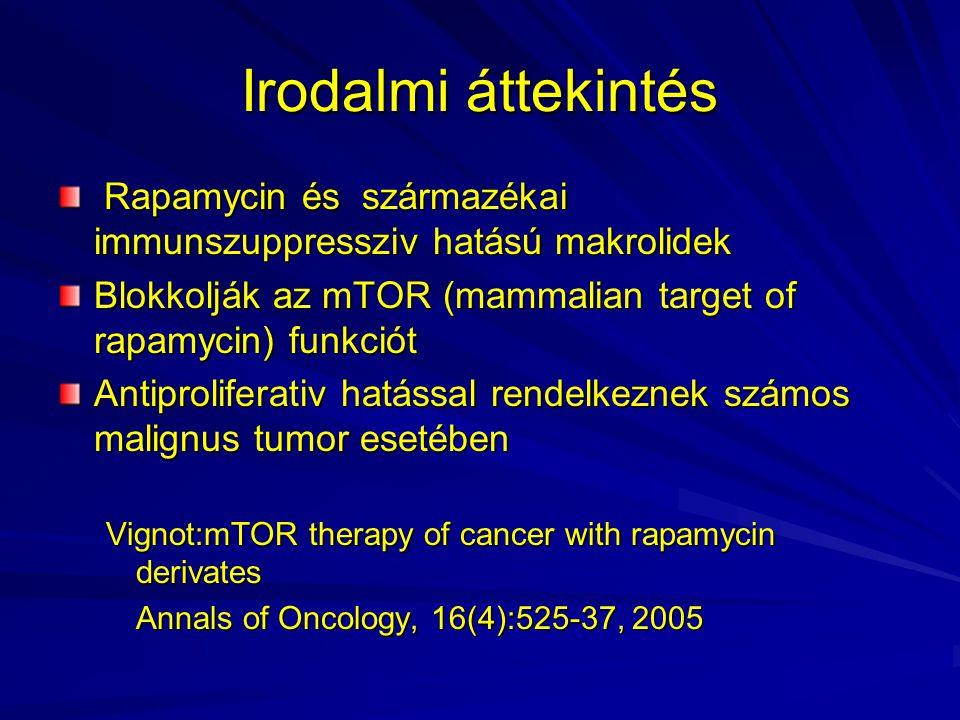 Irodalmi áttekintés Rapamycin és származékai immunszuppressziv hatású makrolidek Rapamycin és származékai immunszuppressziv hatású makrolidek Blokkolj