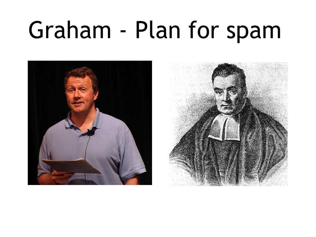 Graham - Plan for spam