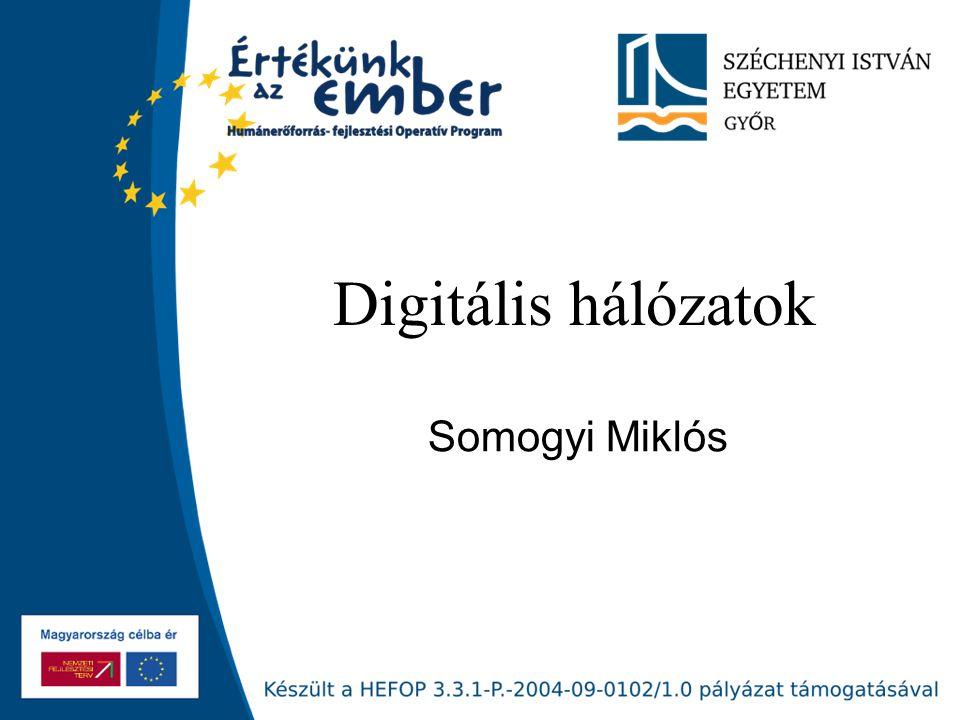 Digitális hálózatok Somogyi Miklós