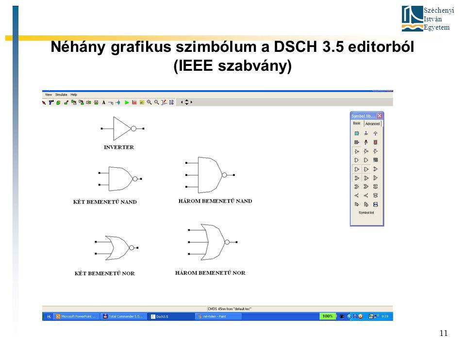 Széchenyi István Egyetem 11 Néhány grafikus szimbólum a DSCH 3.5 editorból (IEEE szabvány)