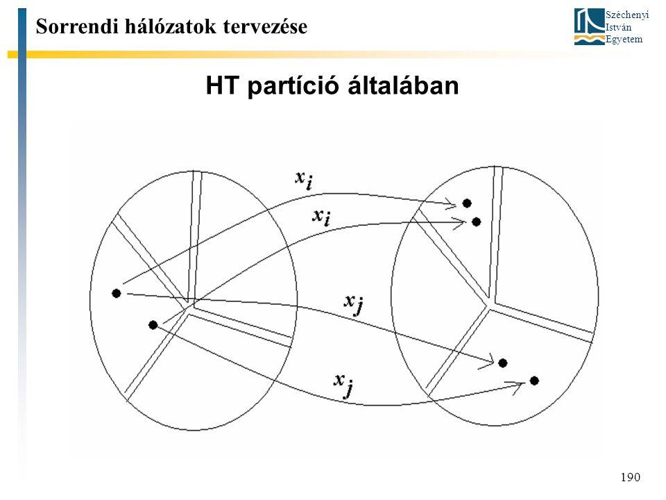 Széchenyi István Egyetem 190 HT partíció általában Sorrendi hálózatok tervezése