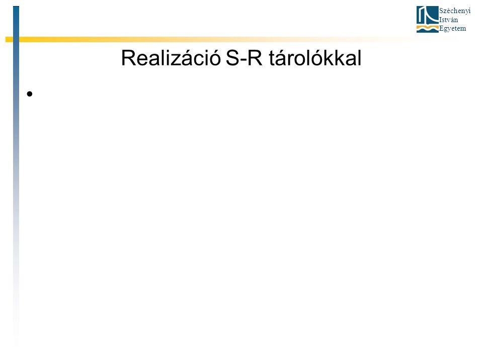 Széchenyi István Egyetem Realizáció S-R tárolókkal