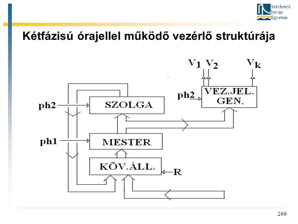 Széchenyi István Egyetem 266 Kétfázisú órajellel működő vezérlő struktúrája
