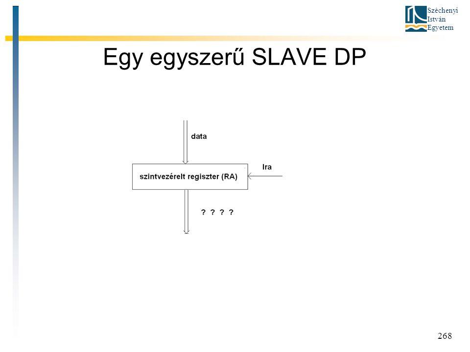 Széchenyi István Egyetem 268 Egy egyszerű SLAVE DP