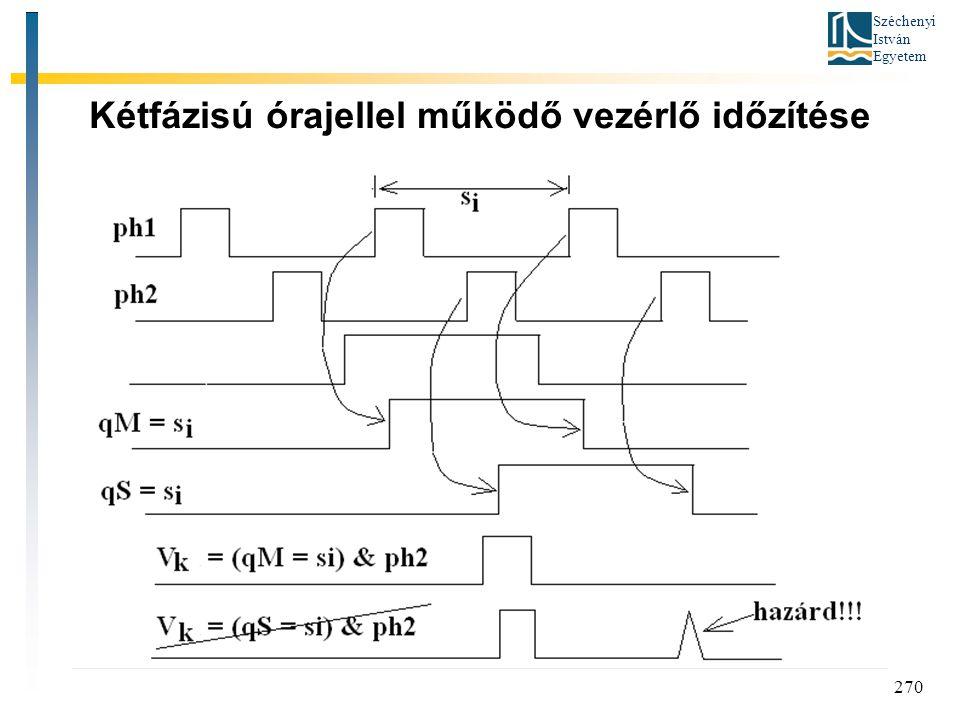 Széchenyi István Egyetem 270 Kétfázisú órajellel működő vezérlő időzítése