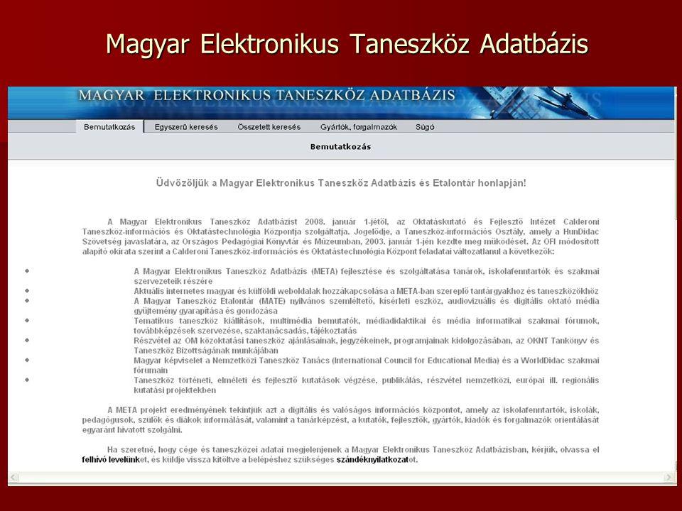 Magyar Elektronikus Taneszköz Adatbázis