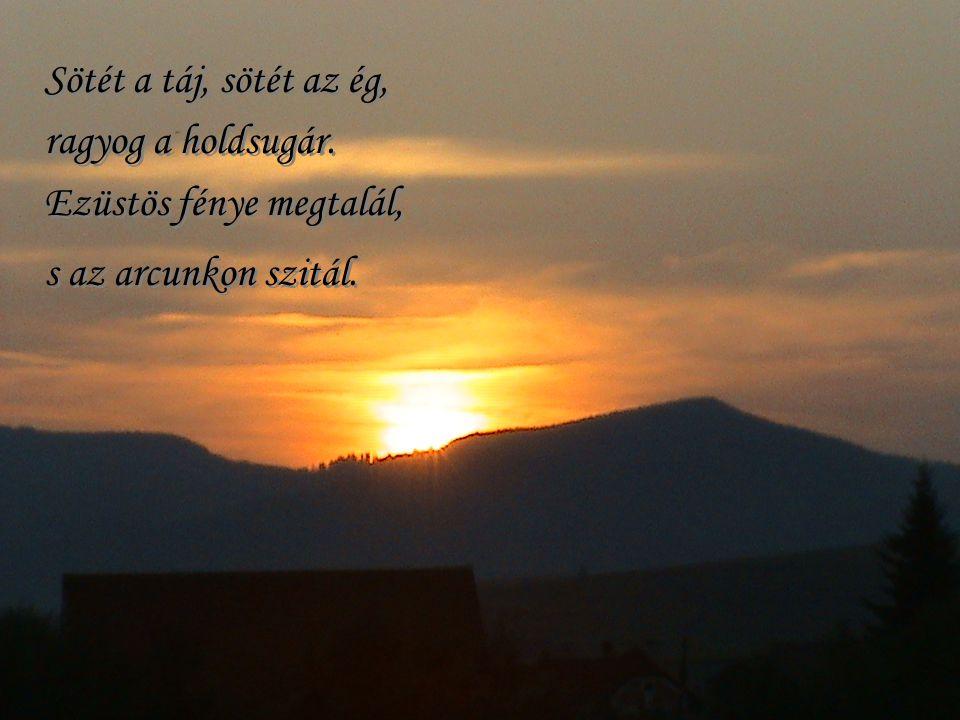 Az est leszáll… emléke a képnek, az örök szépnek, utadra kísérjen el…