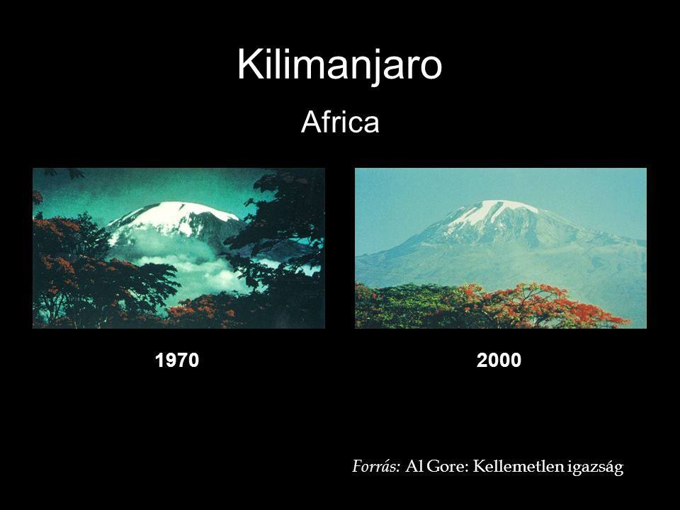 Kilimanjaro Africa 19702000 Forrás: Al Gore: Kellemetlen igazság
