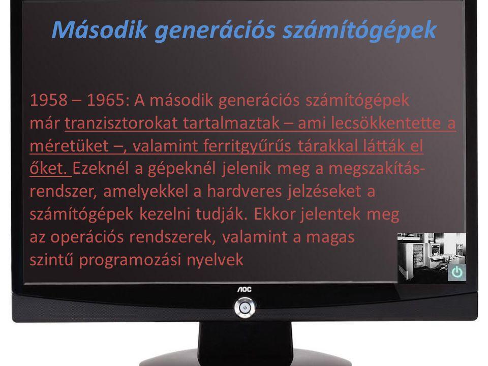 Második generációs számítógépek a 70-es években 1972-ben az MTA Számítástechnikai Központja végre egy viszonylag modern nyugati számítógépet kap (CDC 3300), és ezzel szinte egy időben 1973-ban összevonásra kerül az Automatizálási Kutató Intézettel (AKI) és létre jön a ma is ismert SZTAKI.
