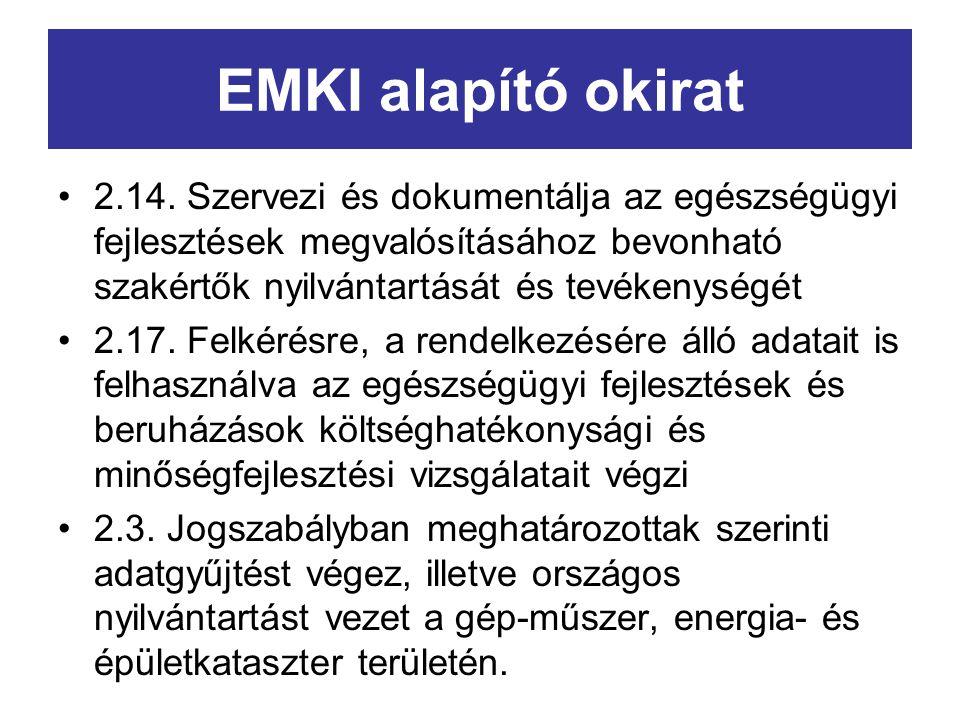EMKI alapító okirat 2.14.