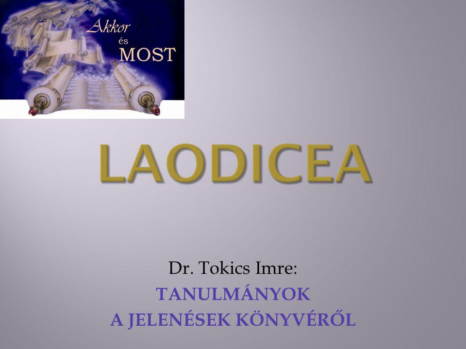 Dr. Tokics Imre: TANULMÁNYOK A JELENÉSEK KÖNYVÉRŐL