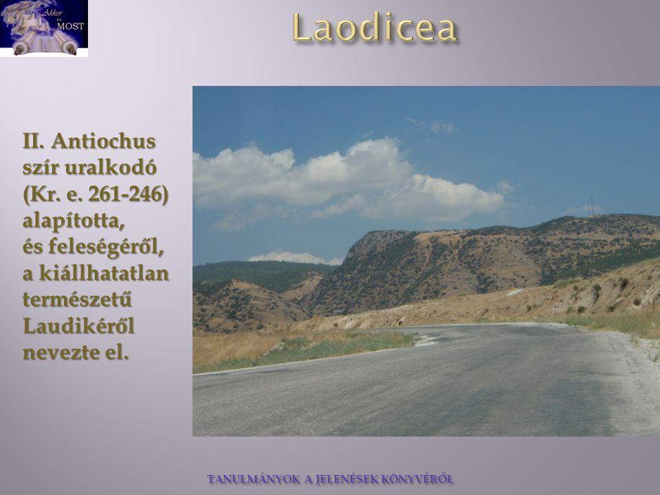 TANULMÁNYOK A JELENÉSEK KÖNYVÉRŐL Különleges és nagyon ritka fekete gyapjút készítettek Laodiceában.