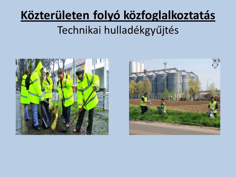 Közterületen folyó közfoglalkoztatás Technikai hulladékgyűjtés
