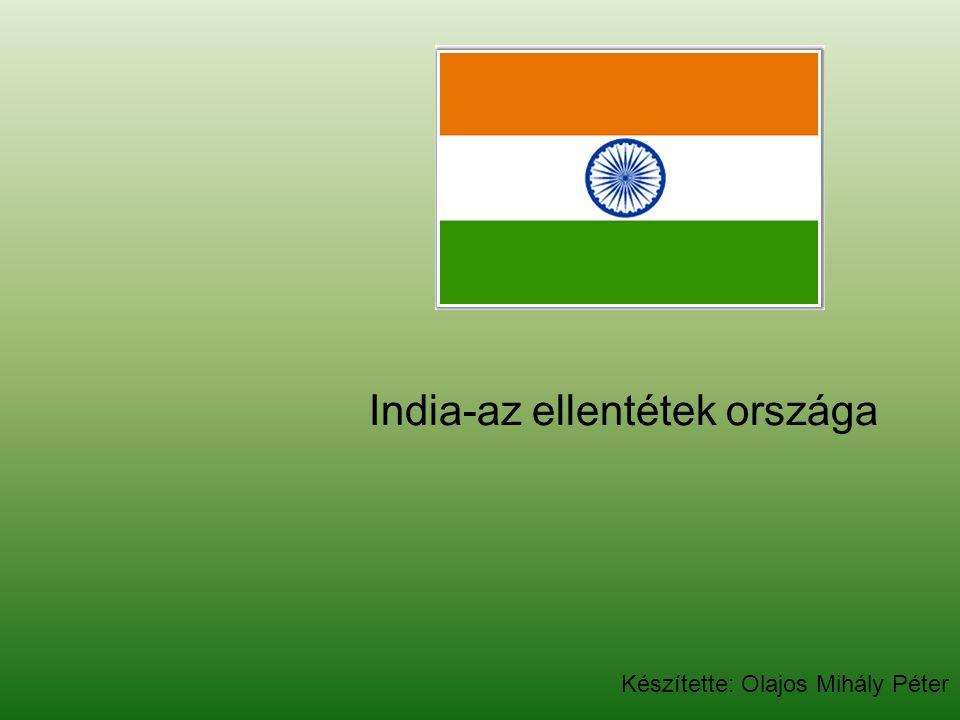 Hivatalos megnevezés: Indiai Köztársaság Államforma:szövetségi köztársaság Főváros:Új Delhi (15.333.741 millió lakos - 2005) Terület :3.287.590 km 2 Népesség :1.129.866.154 fő (2007.