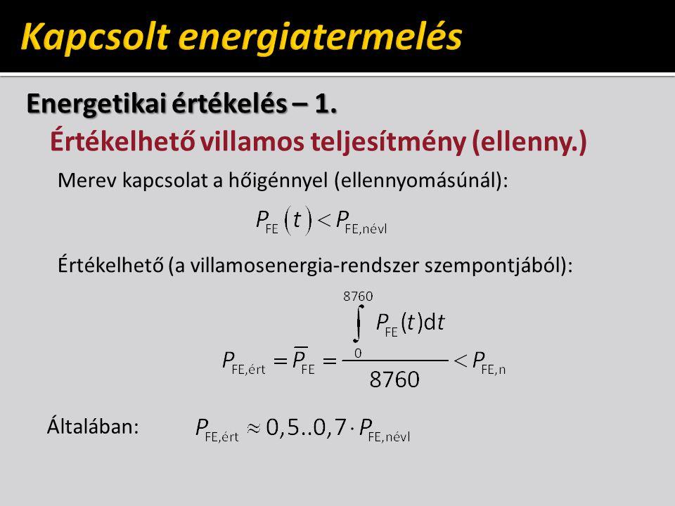 Energetikai értékelés – 1.