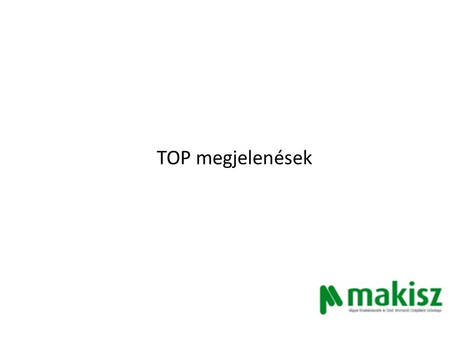 Követeléskezelési törvényt sürget a MAKISZ - TOP megjelenések Piacesprofit.hu Ettől fog javulni a fizetési morál 2014.07.01 http://www.piacesprofit.hu/kkv_cegblog/ettol-fog-javulni-a- fizetesi-moral/