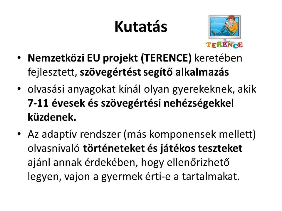 Kutatás Nemzetközi EU projekt (TERENCE) keretében fejlesztett, szövegértést segítő alkalmazás olvasási anyagokat kínál olyan gyerekeknek, akik 7-11 év