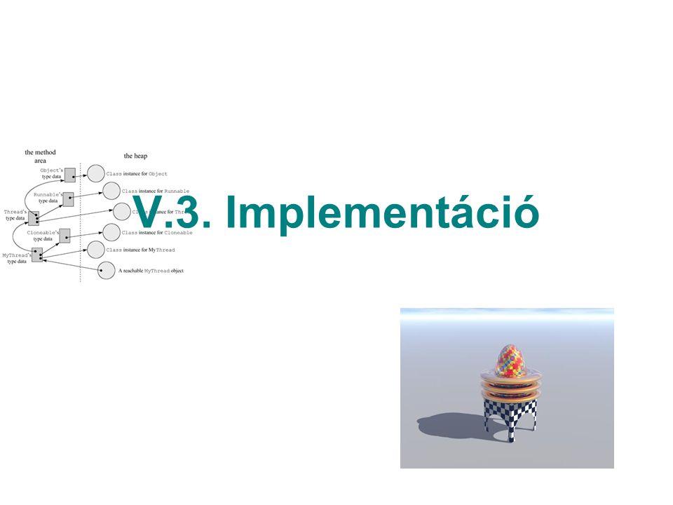 V.3. Implementáció