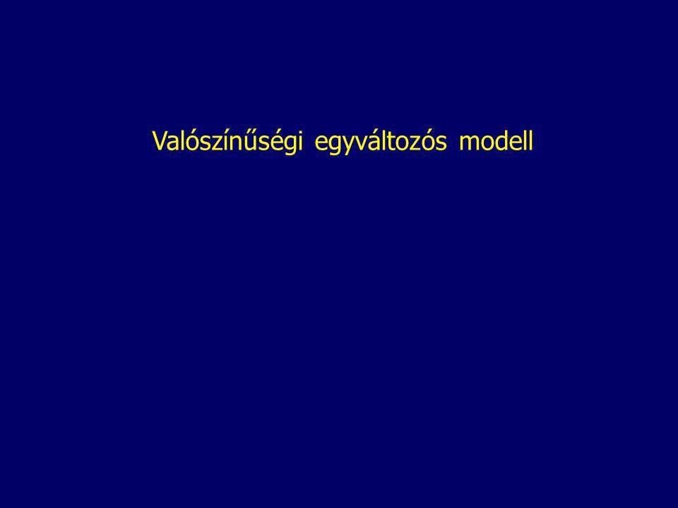 Valószínűségi egyváltozós modell