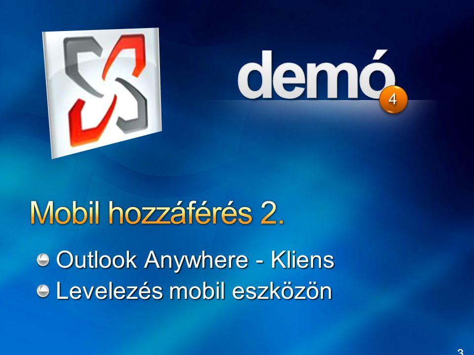 36 44 Outlook Anywhere - Kliens Levelezés mobil eszközön