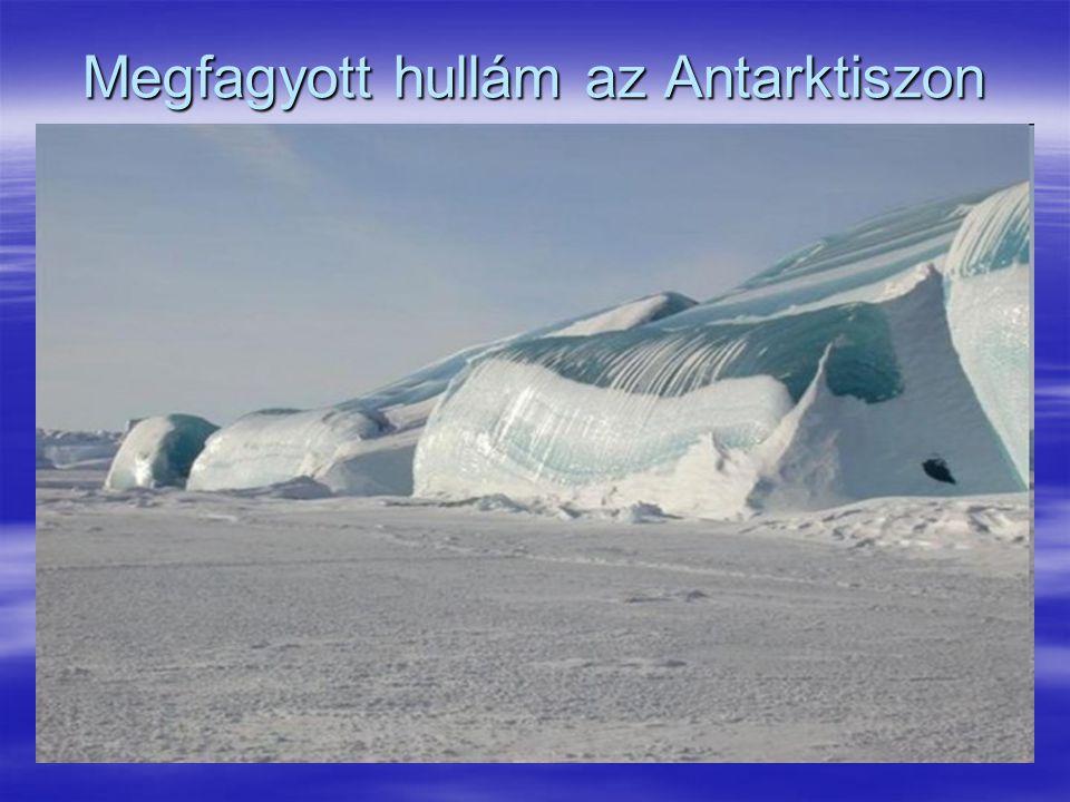 Megfagyott hullám az Antarktiszon