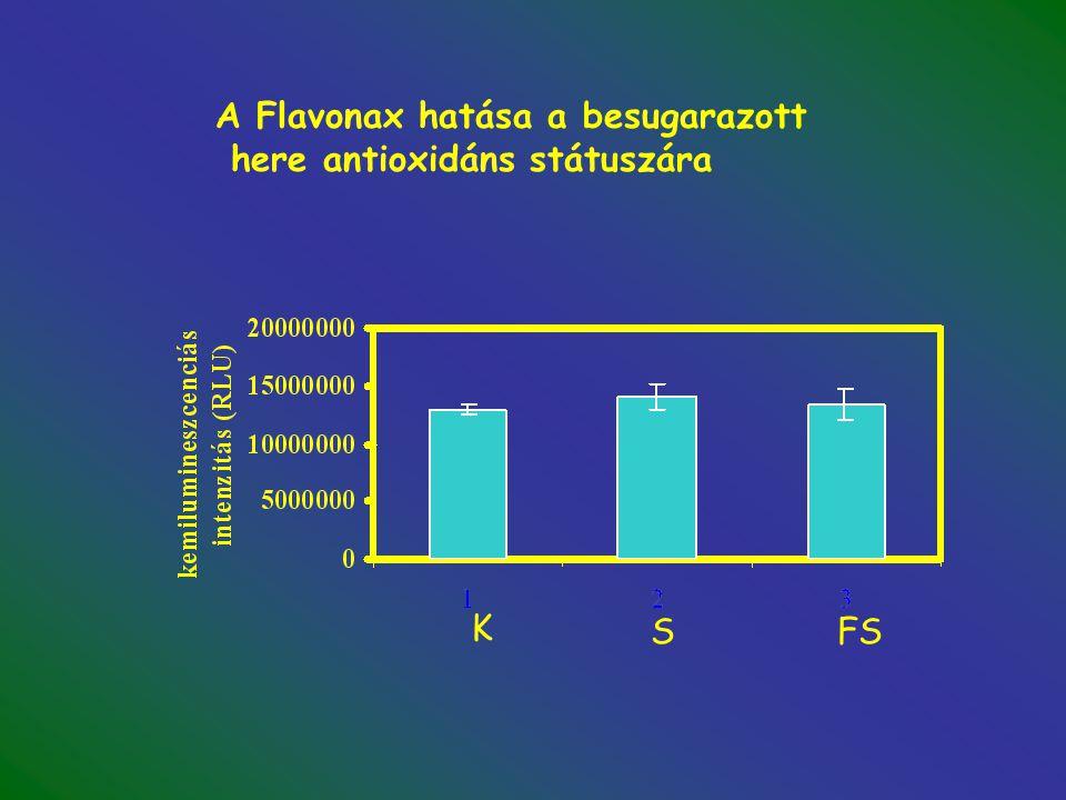 A Flavonax hatása a besugarazott here antioxidáns státuszára K SFS