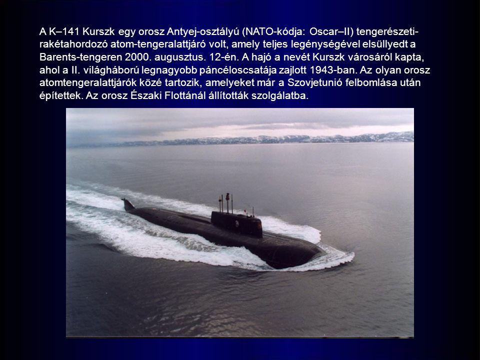 A K–141 Kurszk egy orosz Antyej-osztályú (NATO-kódja: Oscar–II) tengerészeti- rakétahordozó atom-tengeralattjáró volt, amely teljes legénységével elsüllyedt a Barents-tengeren 2000.