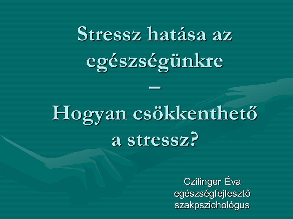 Stressz hatása az egészségünkre – Hogyan csökkenthető a stressz.