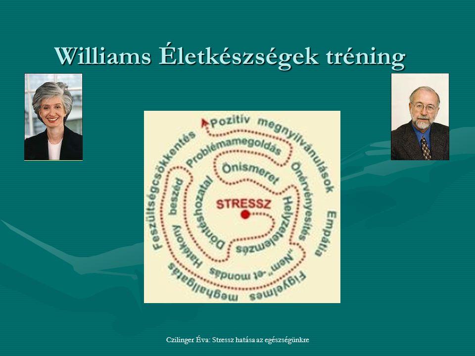 Czilinger Éva: Stressz hatása az egészségünkre Williams Életkészségek tréning