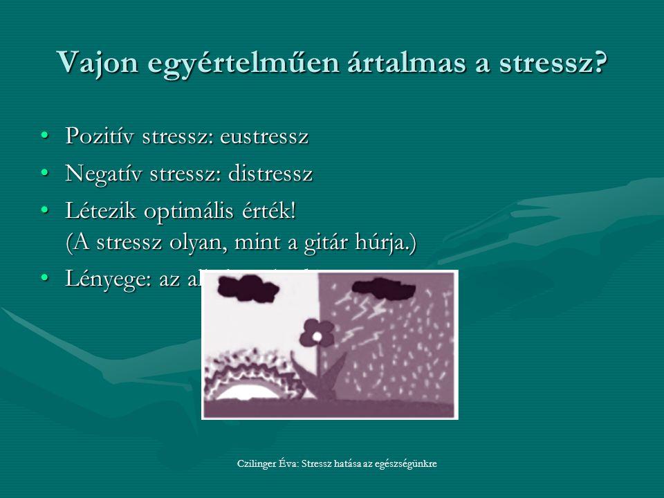 Vajon egyértelműen ártalmas a stressz.