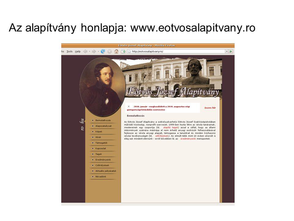 Az alapítvány honlapja: www.eotvosalapitvany.ro
