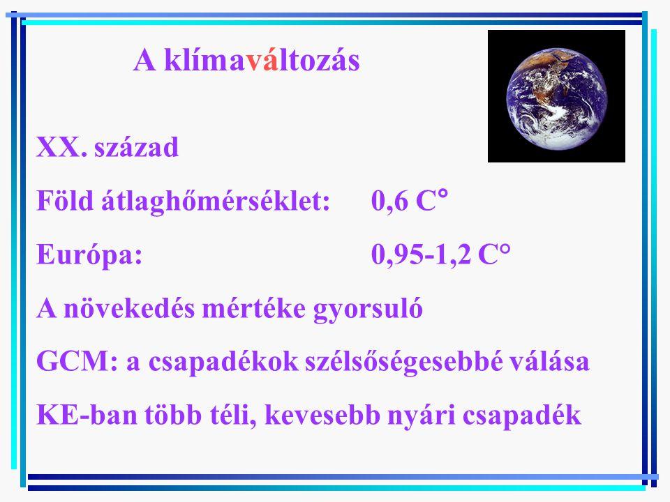 A klímaváltozás XX.