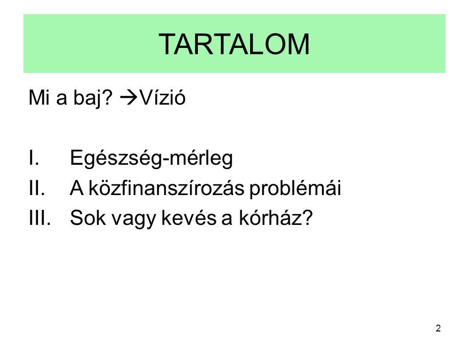 3 Mi a baj a magyar egészségügyben.Ki mit mond.