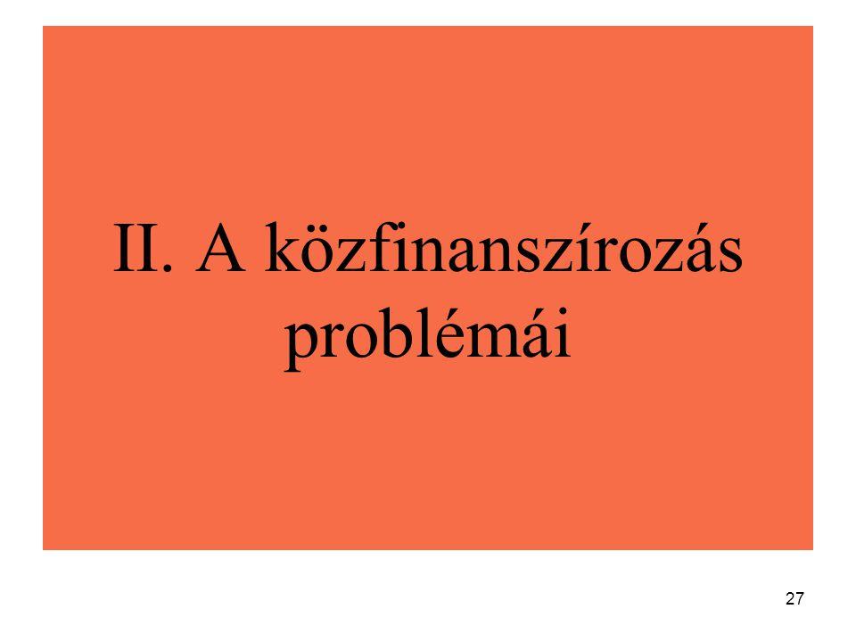 27 II. A közfinanszírozás problémái