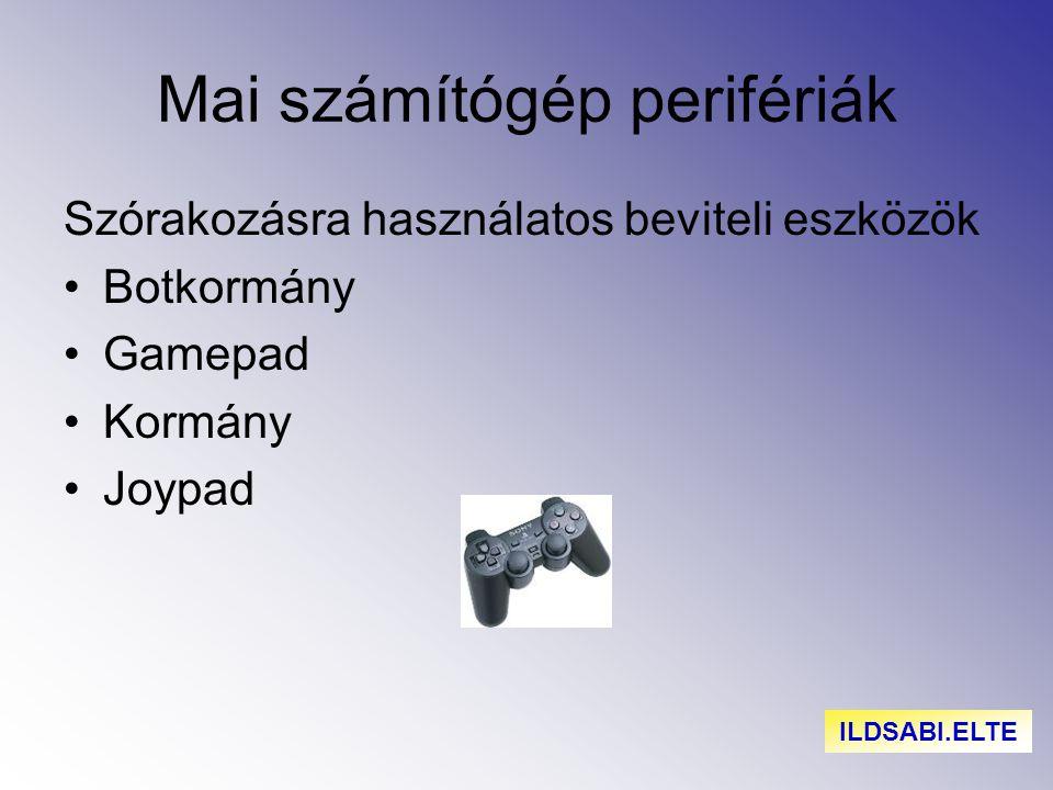 Mai számítógép perifériák Szórakozásra használatos beviteli eszközök Botkormány Gamepad Kormány Joypad ILDSABI.ELTE