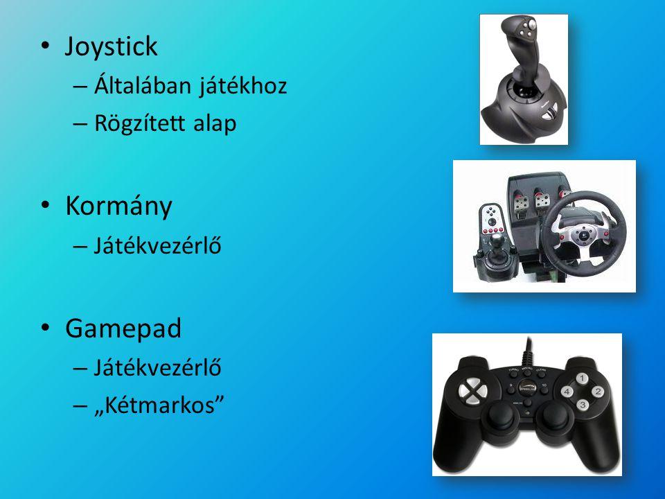 """Joystick – Általában játékhoz – Rögzített alap Kormány – Játékvezérlő Gamepad – Játékvezérlő – """"Kétmarkos"""""""