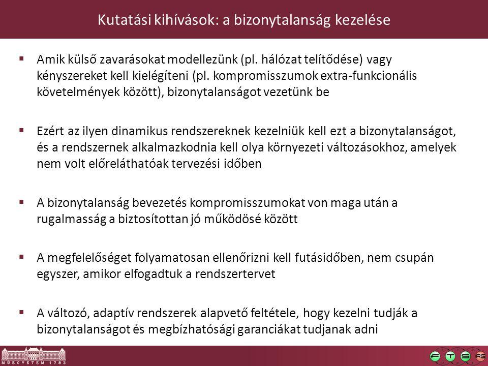 Kutatási kihívások: a bizonytalanság kezelése  Amik külső zavarásokat modellezünk (pl.