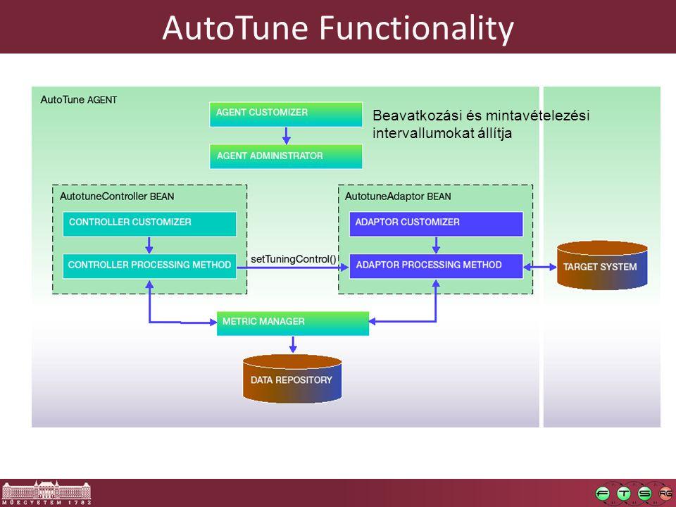 AutoTune Functionality Beavatkozási és mintavételezési intervallumokat állítja