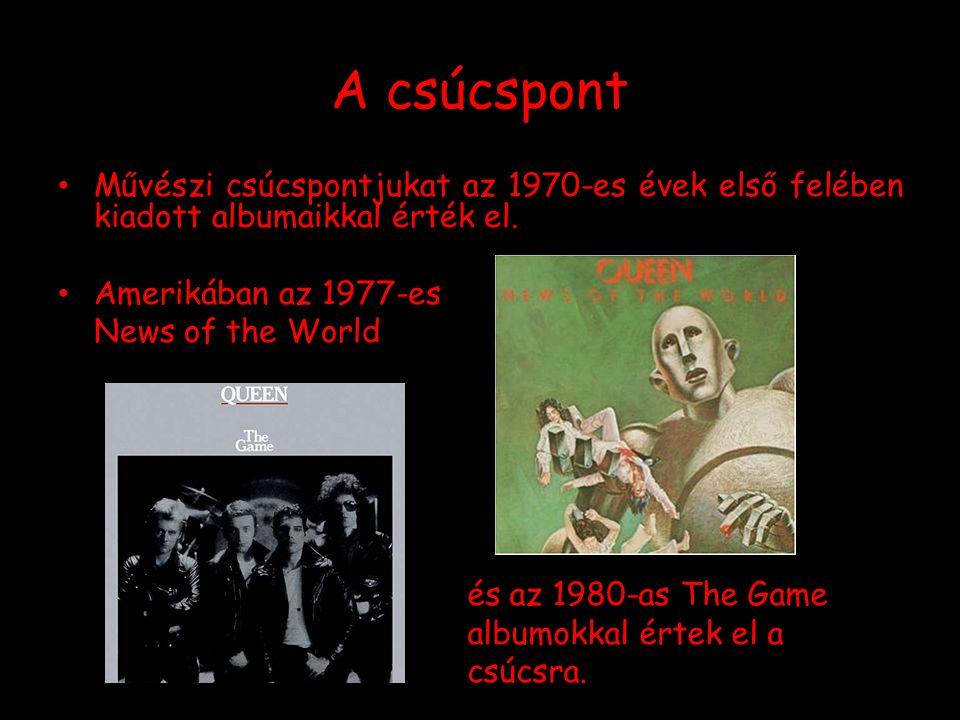 A csúcspont Művészi csúcspontjukat az 1970-es évek első felében kiadott albumaikkal érték el. Amerikában az 1977-es News of the World és az 1980-as Th