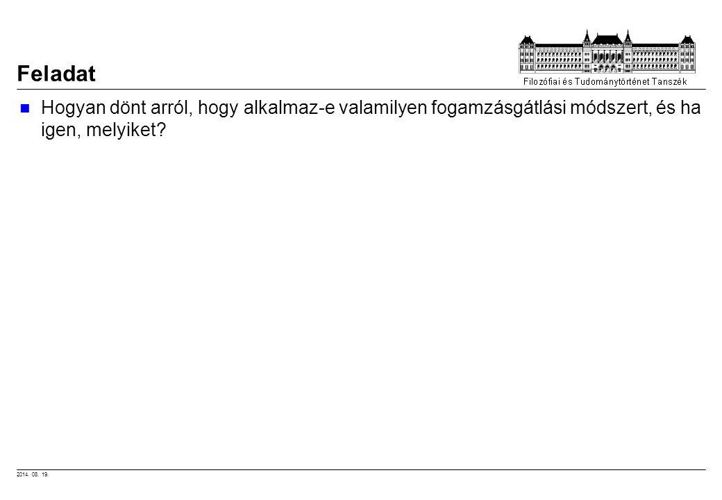 2014.08. 19. KritériumsúlyMeg- szakít Kon- dom SpirálTabl ffiTabl.