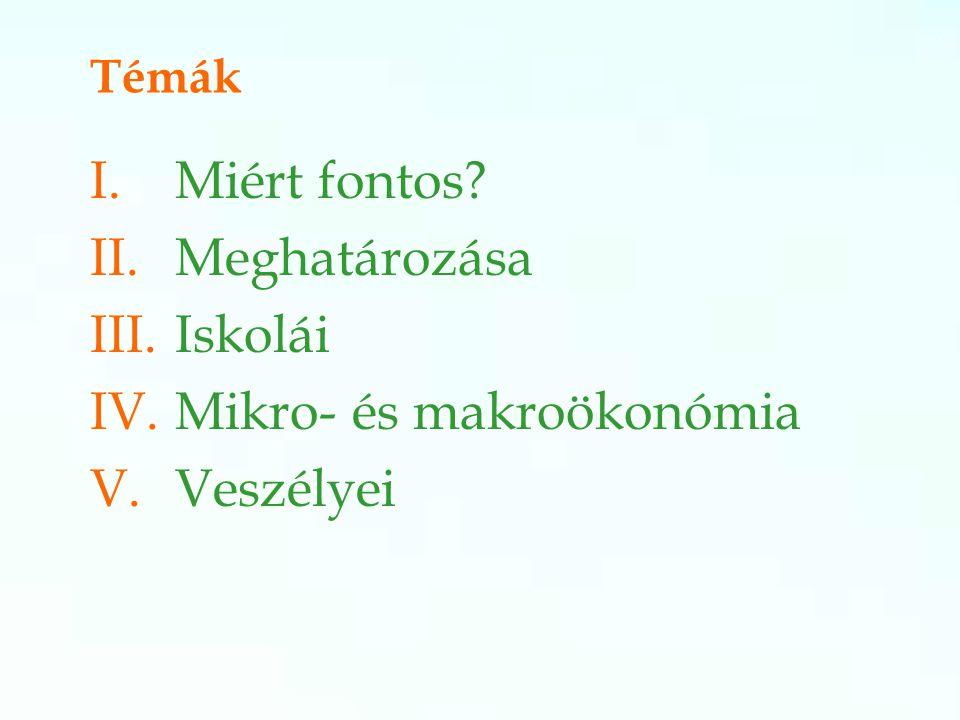 IV. Makro-, mikroökonómia