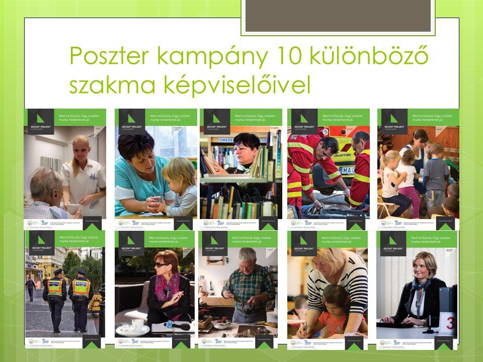 Poszter kampány 10 különböző szakma képviselőivel