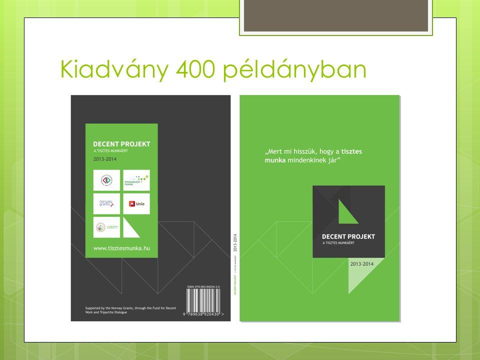 Kiadvány 400 példányban