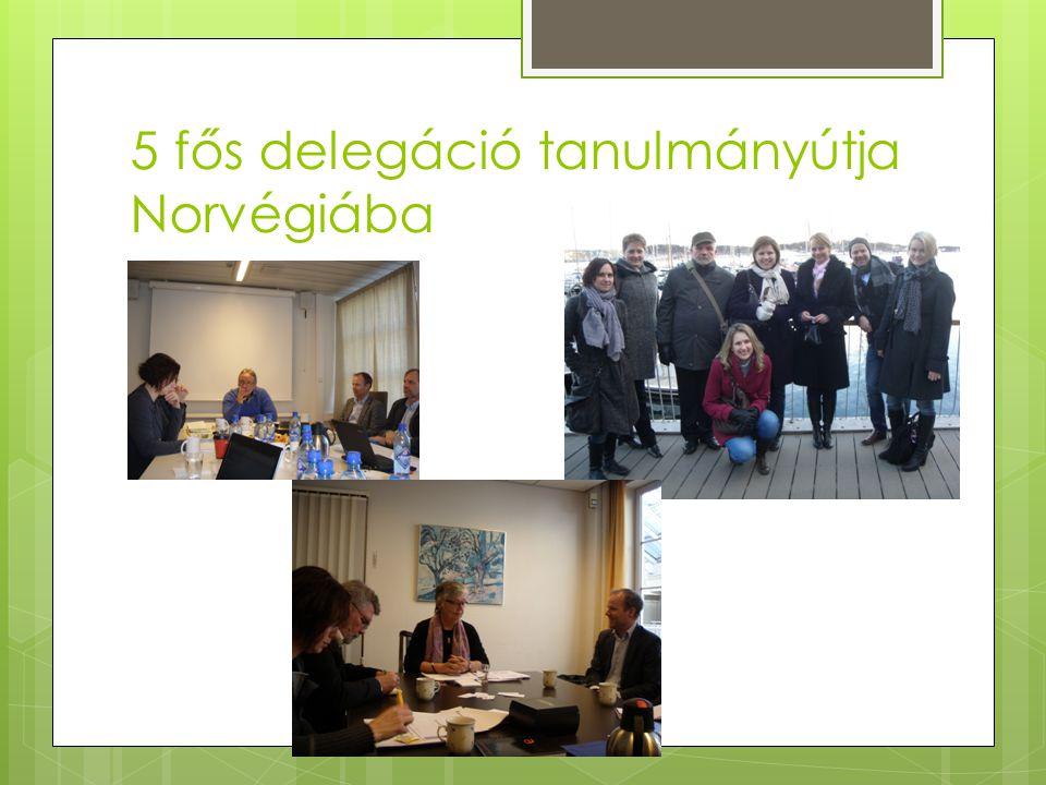 5 fős delegáció tanulmányútja Norvégiába