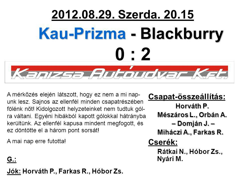 Kau-Prizma - Blackburry 2012.08.29. Szerda.
