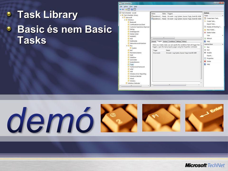 Task Library Basic és nem Basic Tasks