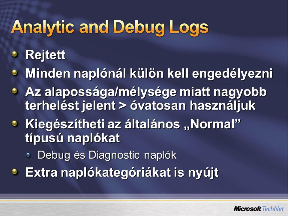 Analytic and Debug Logs