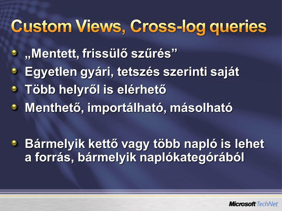 Custom Views / Cross-log queries