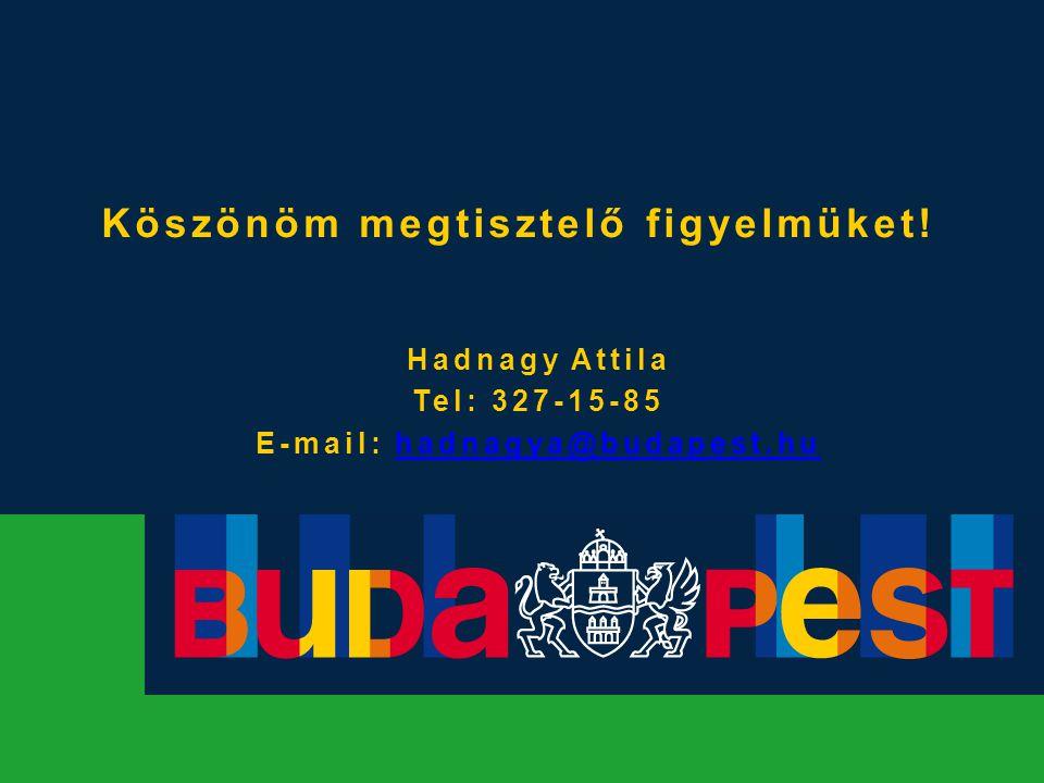 Köszönöm megtisztelő figyelmüket! Hadnagy Attila Tel: 327-15-85 E-mail: hadnagya@budapest.huhadnagya@budapest.hu