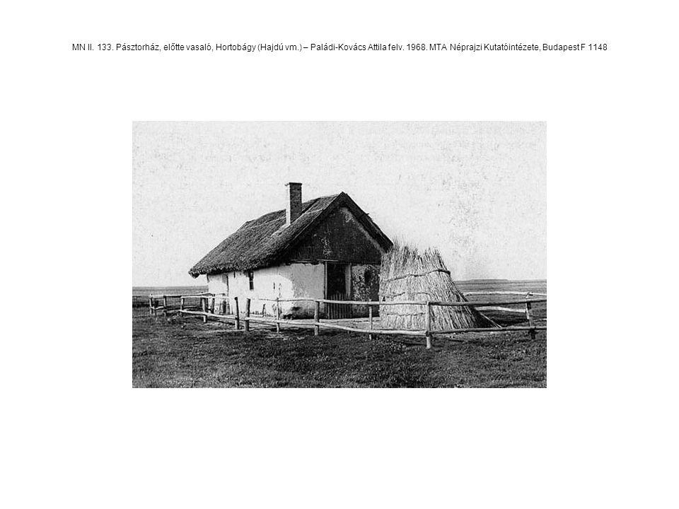 MN II. 133. Pásztorház, előtte vasaló, Hortobágy (Hajdú vm.) – Paládi-Kovács Attila felv. 1968. MTA Néprajzi Kutatóintézete, Budapest F 1148